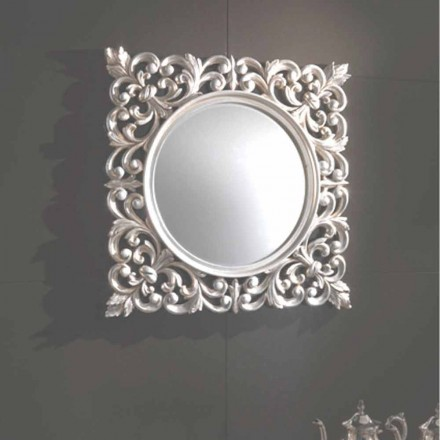 Hand-carved wall mirror in Italy, baroque design, Chic