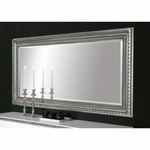 Claudio hand made modern wood wall mirror with modern design