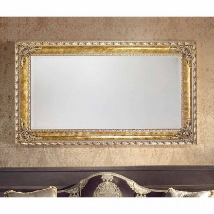 Rectangular wall mirror with modern lines, made in Italy, Umberto