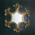 Baroque wall mirror, bevelled mirror Paris, made in Italy