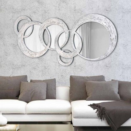Designer Wall Mirror Circles by Viadurini Decor, made in Italy