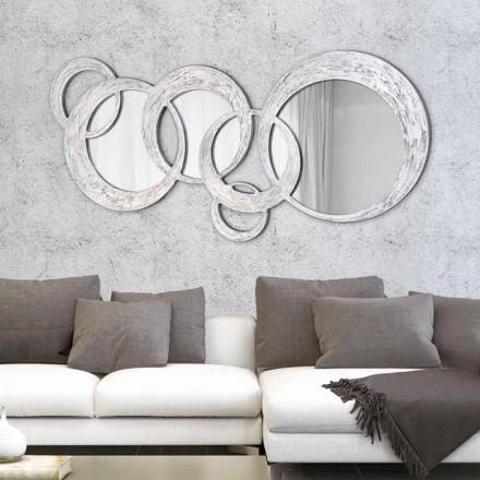 Designer Wall Mirror Circles by Viadurini Decor, made in Italy