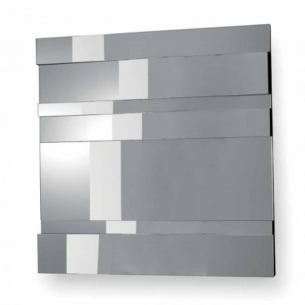 Modern Design Wall Mirror in Glass and Metal Made in Italy - Pallino