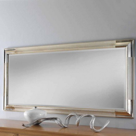 Modern wall mirror made of wood, produced completely in Italy, Piera