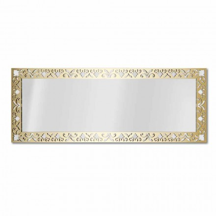 Wall Mirror in Gold, Silver or Bronze Plexiglass with Frame - Nectar