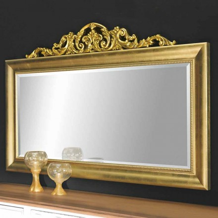 Modern wall mirror made of wood, produced completely in Italy, Kevin