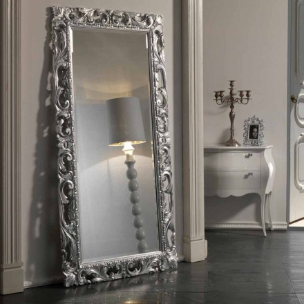 Floor / Wall Mirror of Baroque Design in Polyurethane made in Italy – Pilly