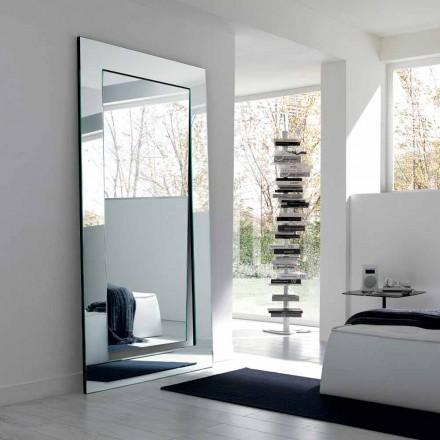 Rectangular Modern Design Free Standing Mirror Made in Italy - Salamina
