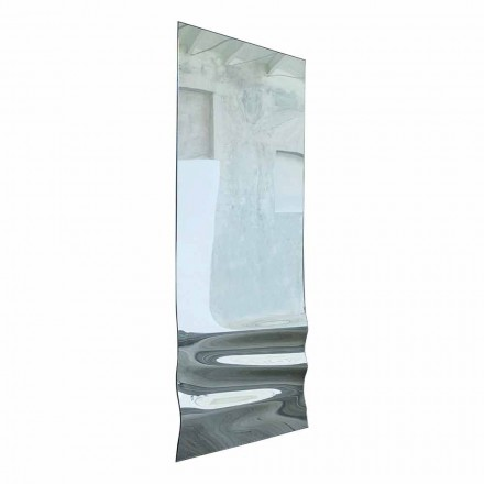 Large Mirror in Wavy Crystal Finish Made in Italy - Athena