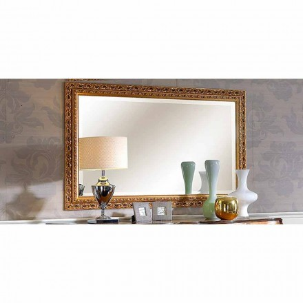 Handmade fir wood mirror, Diane baroque style