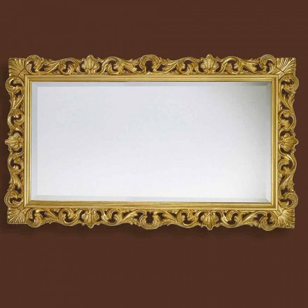 Modern mirror handmade of wood, produced completely in Italy, Nicol