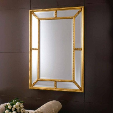 Mirror in solid linden wood Cindy baroque design