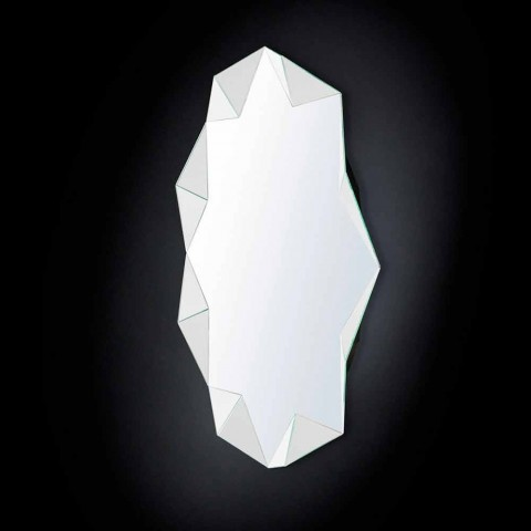 Mirror modern wall by three-dimensional design Diamond