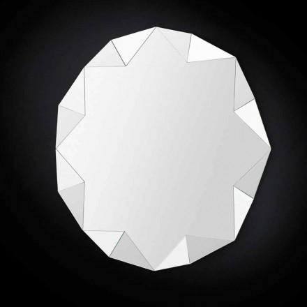 Three-dimensional wall mirror Diamond, modern design