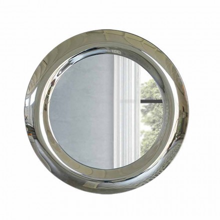 Large Wall Mirror in Crystal Finish Made in Italy - Stilla