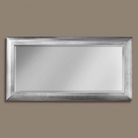 Ayous wood rectangular wall mirror, produced in Italy, Manuel