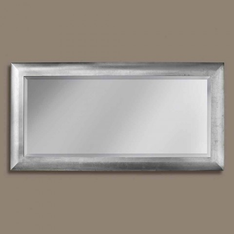 Manuel wall mirror in rectangular fir wood made in Italy