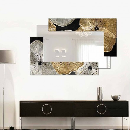 Designer Small Wall Mirror Petunia Oro Scomposta