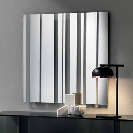 Modern Design Square Wall Mirror Made in Italy - Coriandolo