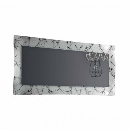 Rectangular Design Mirror with Glass Frame Made in Italy - Eclisse