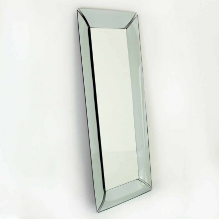 Large Rectangular Mirror in Crystal Made in Italy Design - Twin