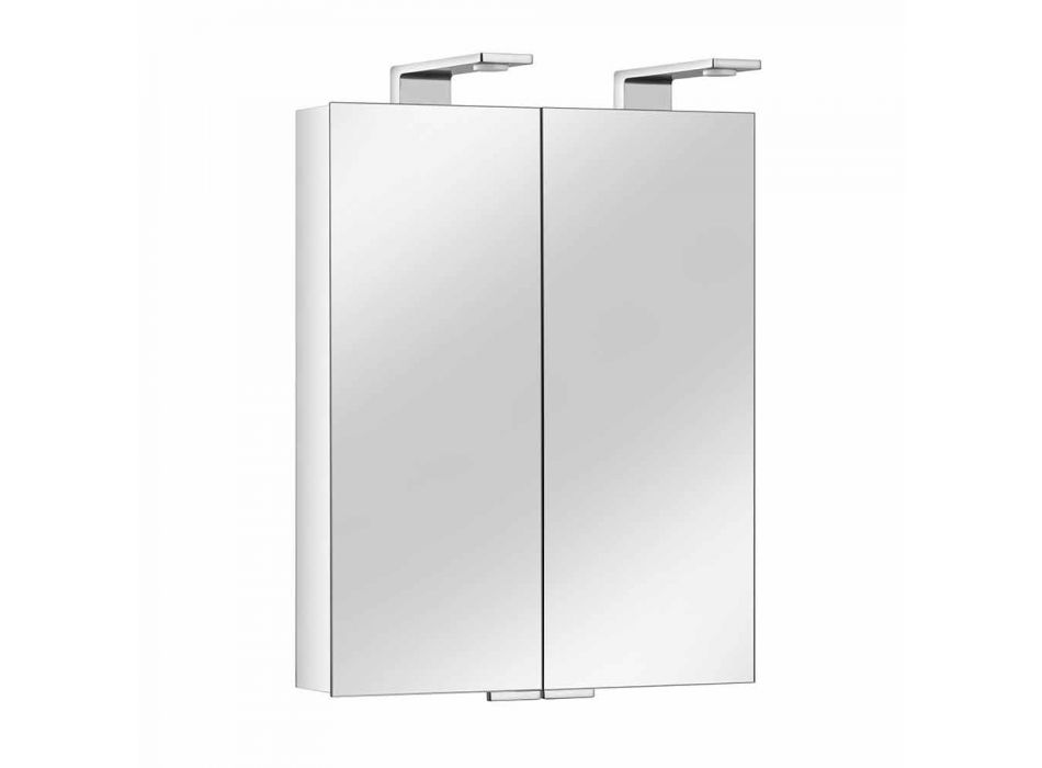 2-Door Mirror with Silver Aluminum Container and Chrome Details - Maxi