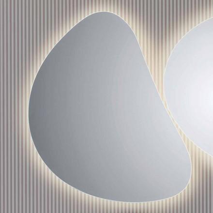 Pirro LED backlit bathroom mirror, modern design