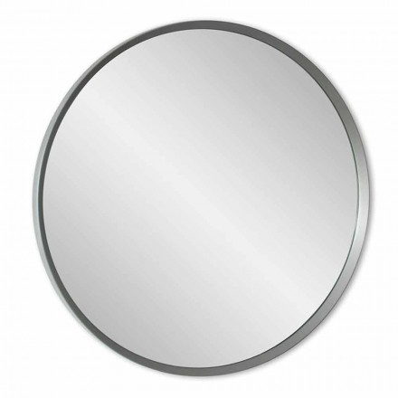 Round Wall Mirror with Lacquered Frame of Elegant Modern Design - Odosso