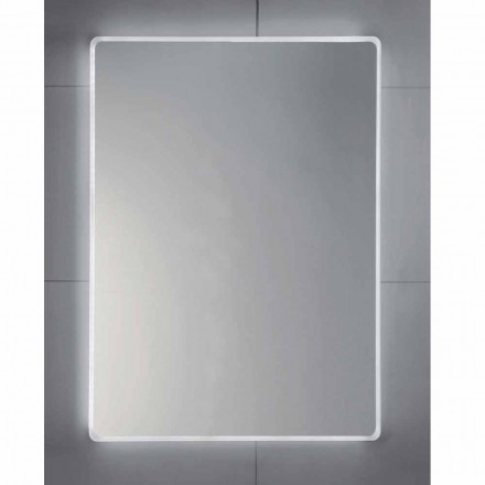Tessa LED bathroom mirror with frosted edges, modern design