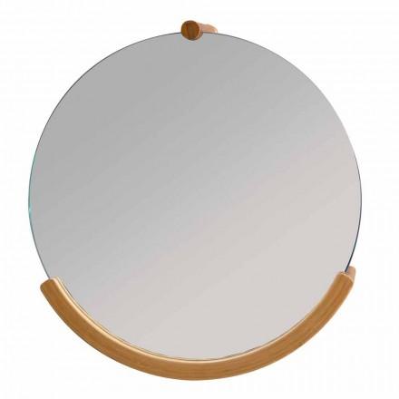 Design bathroom wall mirror with bamboo frame Gorizia