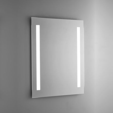 Polished Wire Bathroom Mirror with LED Backlight Made in Italy - Tony