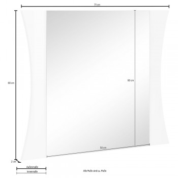Bedroom Mirror or Wall Entrance Arched Design 2 Sizes - Sabine