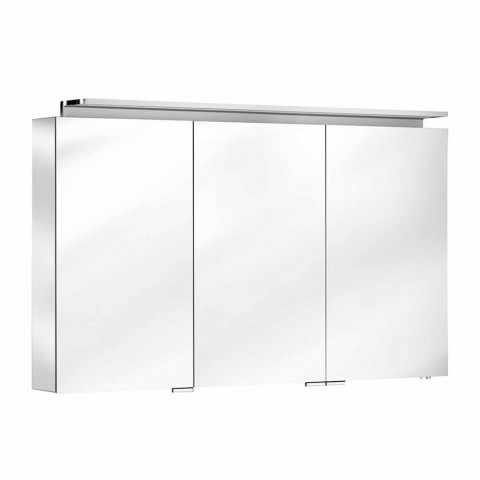 Modern 3-Door Wall Cabinet Mirror with Internal Shelves - Bramo