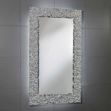 Cecilia bathroom mirror with glass frame, modern design