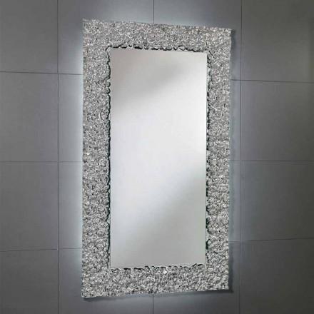 Cecilia bathroom mirror with glass frame, modern design