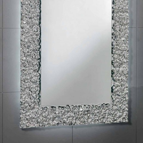 Mirror with decorative modern design glass frame, Cecilia