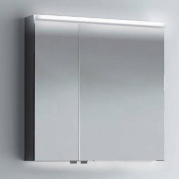 Container mirror 2 modern design doors, LED lighting, Carol