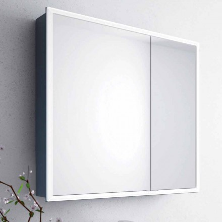 Adele mirror cabinet with 2 doors and LED light, modern design