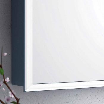 Wall-mounted mirror with 2 modern doors, LED lighting, Adele