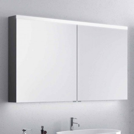 Carol mirror cabinet with 2 doors and LED lights, modern design