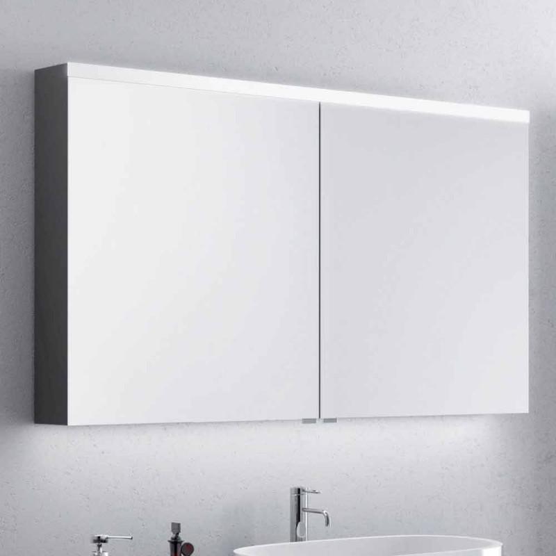 Bathroom mirror with 2-door bath-tub, modern design, Carol