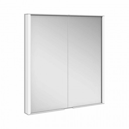 Mirror Cabinet in Silver Painted Aluminum, Modern - Demon