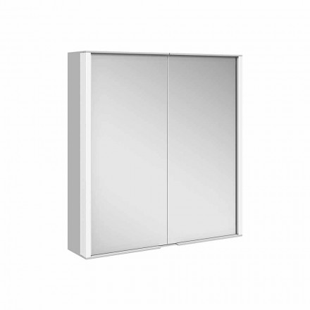 Wall Mirror in Aluminum with LED Lighting - Demon