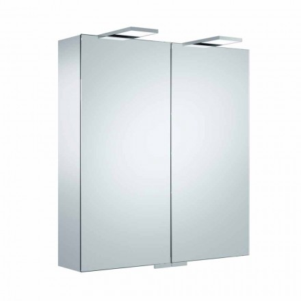 Luxury Wall Mirror with 2 Doors and LED Lighting - Ratchet