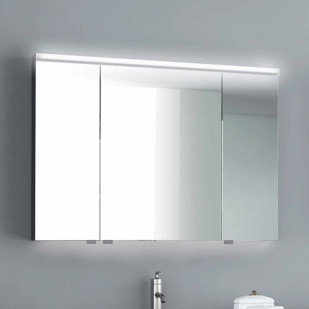 Carol mirror cabinet with 3 doors and LED lights