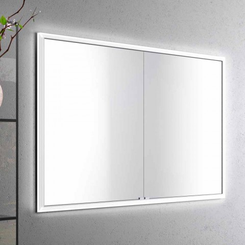 2-Door Contemporary Recessed Contemporary Design LED Door Mirror, Adele