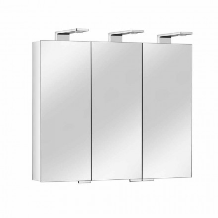 Mirror Container with 3 Crystal Doors and 3 LED Lights, Precious - Maxi