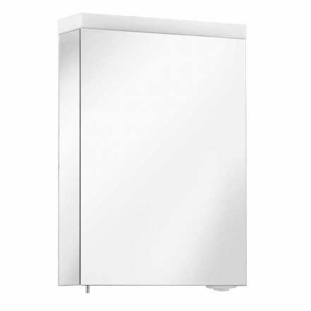 Mirror Container with Hinged Door and LED Lighting, High Quality - Alfio