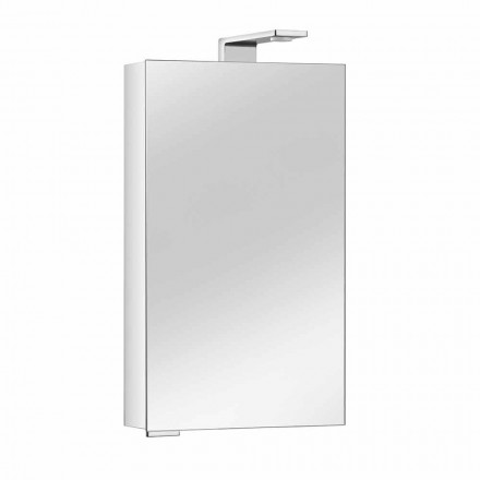 Mirror Cabinet with Crystal Door and Chrome Details, Modern - Maxi