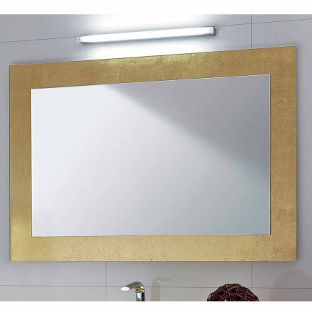 Pascal classic bathroom mirror with gold leaf frame